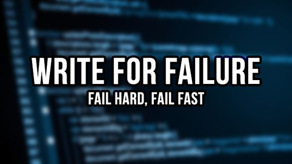 Write for Failure when Programming